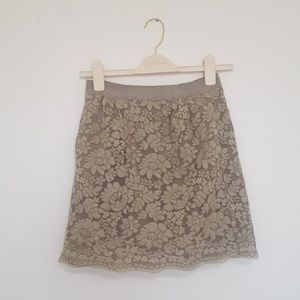 J. Crew Floral Lace Skirt with Pockets